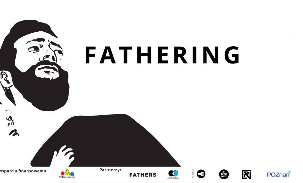 wystawa fathering w galerii r20 w poznaniu. plakat